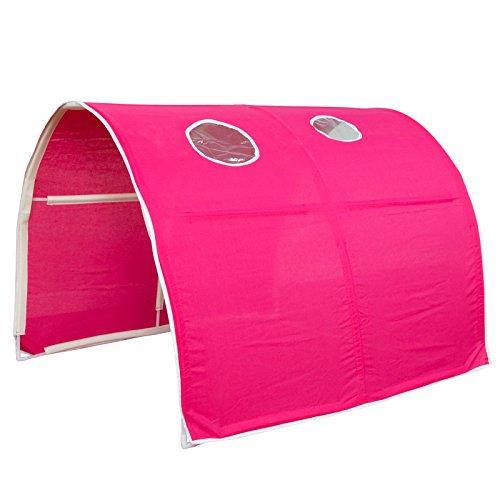 Homestyle4u Tunnel pour Enfant Lit Design, Bois, Bois Dense, Red, 100 x 90 x 70 cm