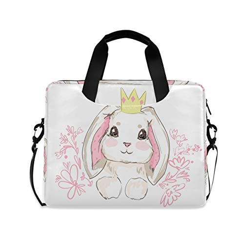 ZZCDD Rabbit Cute Bunny Laptop Messenger Bag Durable Laptop Sleeve Bag Multifunctional Briefcase Carrying Case 15.7 inch Notebook Computer Tablet Laptop Shoulder Bag
