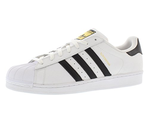 adidas Superstar Shoes Men's, White, Size 9