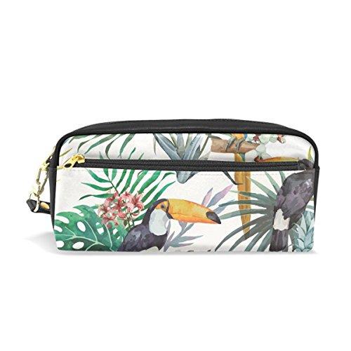 Pineapple Toucan Palm - Estuche para lápices (gran capacidad, con cremallera, bolsa de maquillaje)