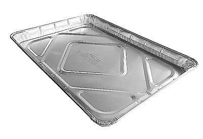 Handi-Foil of America 1/2 Half-Size Sheet Cake Disposable Aluminum Foil Baking Pan Tray Tins - (Pack 50)