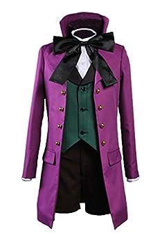 Ya-cos Kuroshitsuji Black Butler II 2 Alois Trancy Uniform Cosplay Costume Purple  Female Medium