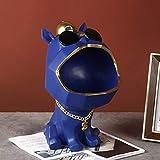 Pzpgeq La Caja de Almacenamiento de Llaves de Boca Grande del Perro, la Estatua de Resina del Organizador de la Caja de Almacenamiento de la Bandeja de Dulces Decora la Sala de Estar Familiar