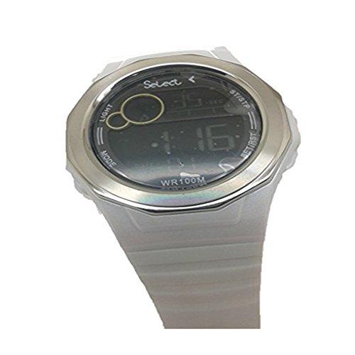Orologio CADETE Select Ref X0-12 di colore bianco, digitale (sfera nera e numeri bianchi).