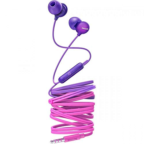 Philips SHE2405PP/00 Upbeat inear Earphone with Mic (Purple)