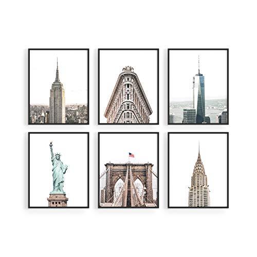 Haus and Hues New York City Wall Art and New York Posters - Set of 6 New York City Posters and NYC Wall Art   New York Wall Decor New York City Skyline NYC Wall Decor   8
