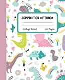 Dinosaur Composition Notebook College Ruled: Cute Dinosaur Composition Notebook College Ruled, Dinosaur Composition Book, 7.5x9.25 College Ruled Pages 19