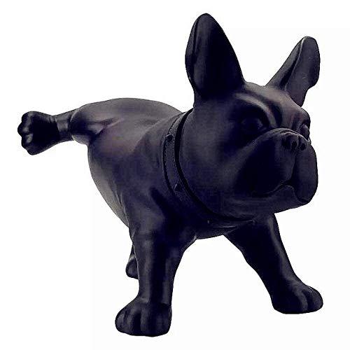 Desktop-Skulptur Tierwandskulptur, reinrassig figurative Modellierung Haustier Säugetier Filmhandwerk ausgestellt Balkon Büro Restaurant Schlafzimmerdekoration Tierwandskulptur (Color : Black)