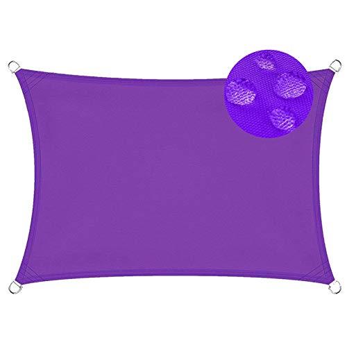 Toldo Parasol 2x3m Telas Lona Cubierta Protección Anti-UV 95%, Toldos IKEA Impermeable, para Jardín Patio Terraza Balcón, Morado