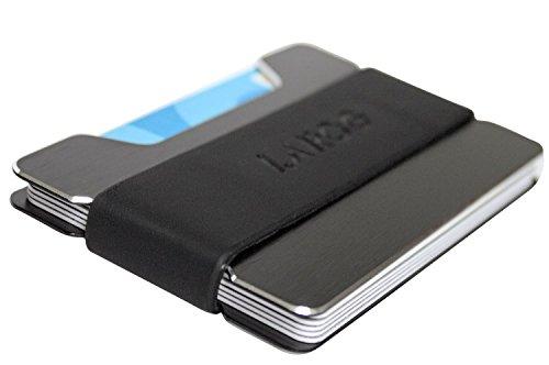 Slim Wallet aus Aluminium - Kreditkartenetui & Geldclip mit RFID & NFC Schutz - Minimalisten Kreditkartenhülle von Larog