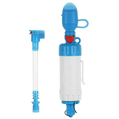 Goliraya Purificateur d'eau à Fonctions Multiples Filtre à Eau Portable Purificateur de Filtration d'eau Potable de Paille pour la Survie en Plein air