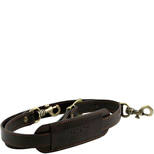 Tuscany Leather TL Voyager - Tracolla in pelle regolabile Testa di Moro Accessori viaggio in pelle