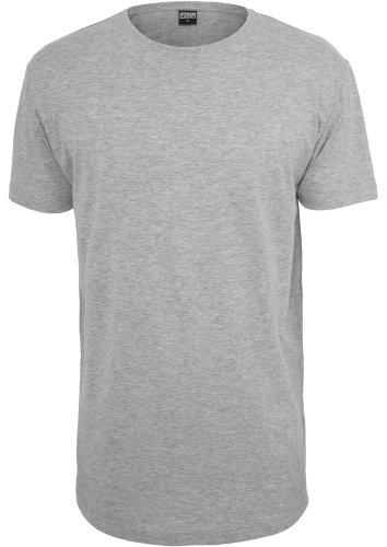 Urban Classics TB638 Shaped Long Tee T-Shirt Man Regular Fit Grey Grigio M