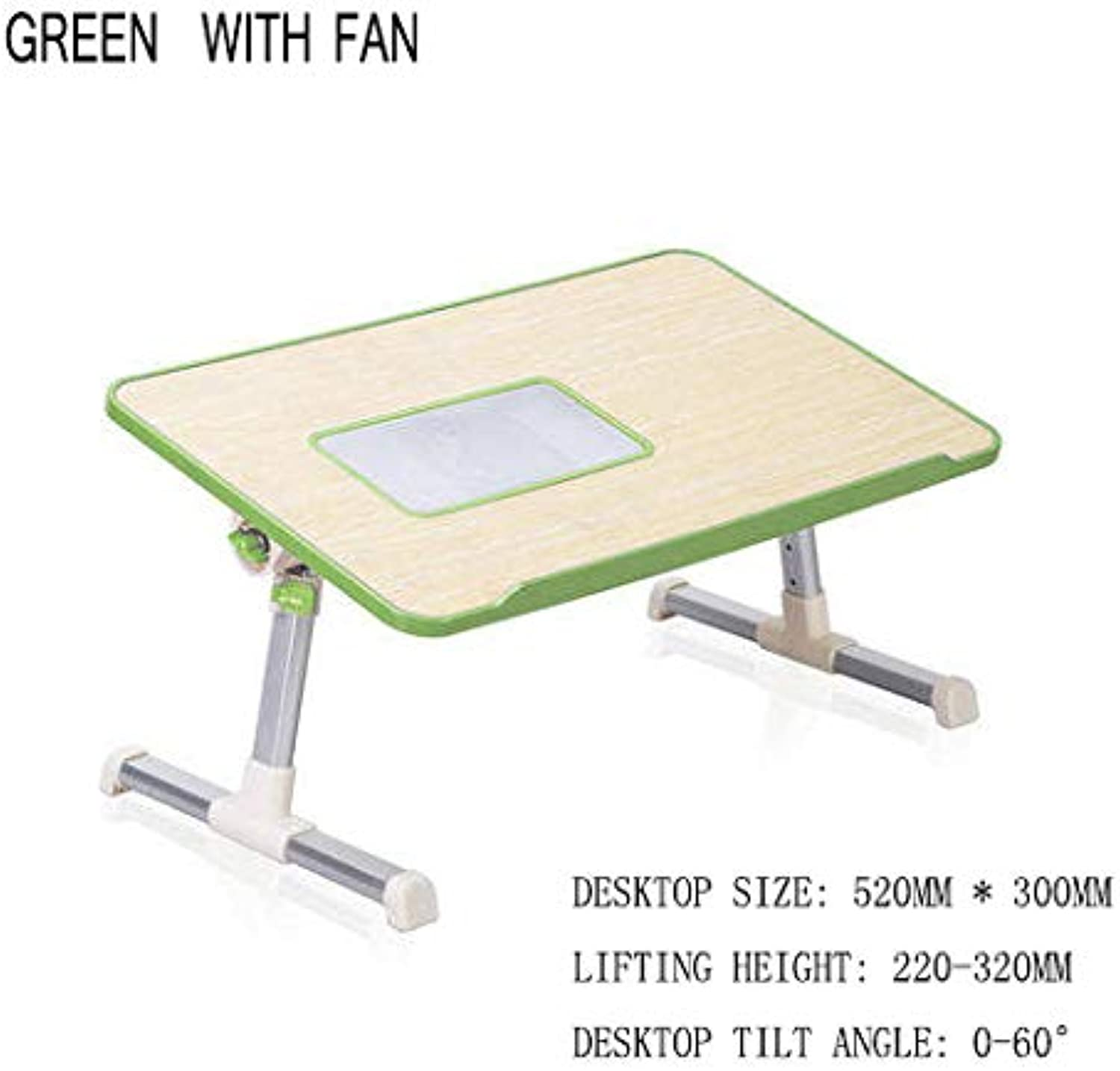 Bed Table Computer Bed with Desk Simple Lazy Table Dormitory Multi-Function Folding Writing Home eat Mini with Fan Black Green   Purple,C,M