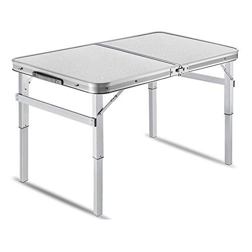 NJLC Einfacher Camping Tisch, Tragbarer Multifunktions Klapptische Hubtisch Klapptisch,White