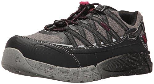 KEEN Utility Women's Asheville Low Alloy Toe ESD Work Shoe, Black/Gargoyle, 9.5 Medium US
