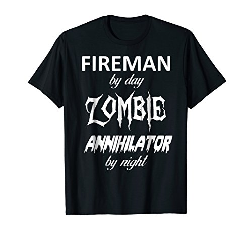 Fireman Halloween Zombie Annihilator T-Shirt