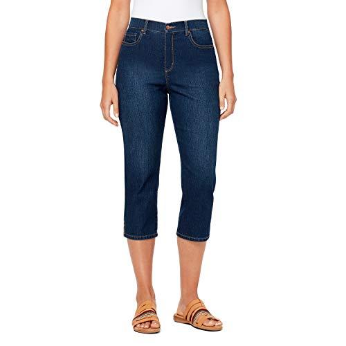 Gloria Vanderbilt Women's Amanda Capri Jeans, Blue, 12