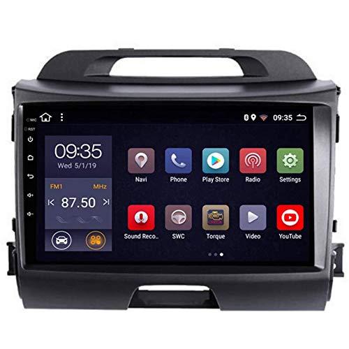 YSSSZ 9 Pollici Touch Screen Navigatore GPS Navigazione Android 9.0 Car Stereo per K-I-A Sportage R 2010-2016, Supporta Google Map/SWC/WiFi/Bluetooth/RDS/MTK/F,WiFi 1G+16G