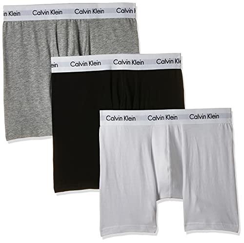 Calvin Klein Men's Boxer Brief 3Pk Shorts, White (White/Grey/Black), L