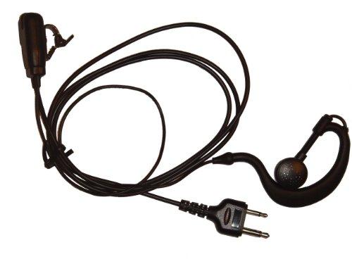 vhbw Headset passend für Intek H-520, MT-5050 Funkgerät, Walkie Talkie