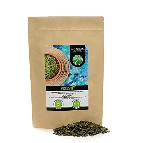 Semillas de calabaza crudas (1kg), pipas de calabaza peladas, naturales y sin sal, de cultivo controlado