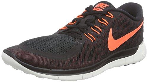Nike Mens Free 5.0 Running Shoe (9, Black/University Red/White/Hyper Orange)