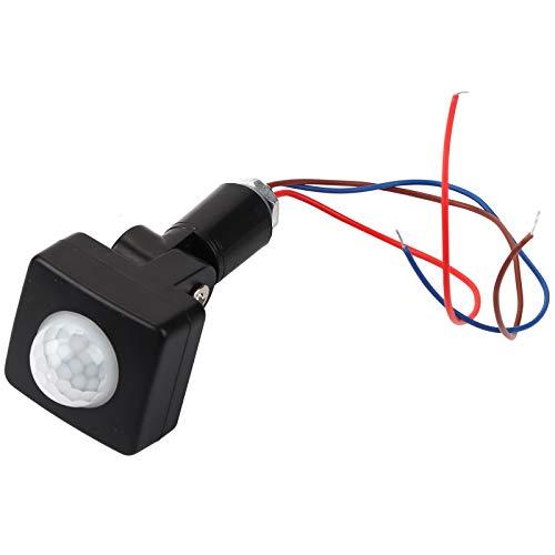 Sensor de movimiento infrarrojo corporal PIR, 90~250 V, 2 modos, detector, interruptor inductor, interruptor automático de iluminación ajustable, para jardín, hogar