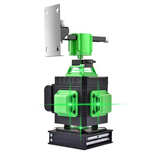 PIGMAMA Green Leveling Laser Level 3D Green Beam Self-Leveling 3x360 Cross Line Three-Plane Leveling and Alignment One 360° Horizontal Line and Two 360° Vertical -Magnetic Pivoting Base 12 Line
