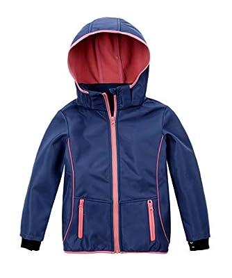 M2C Girls Hooded Fleece Lined Waterproof Windproof Jacket 5T Blue