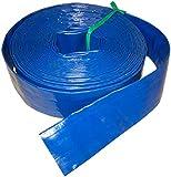 Manguera plana reforzada para riego y trasvase de liquidos por rollo | Manguera plana enrollable (40 mm (6 kg) rollo de 100 m)
