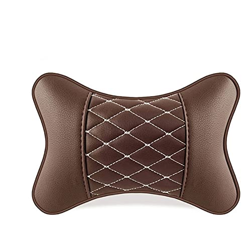 HBYXGS 2 unids de Cuero Artificial Almohada protección Cuello Cuello reposabrazos cómodos automóviles Suministros Almohadas de Cuello Transpirable (Color : H)