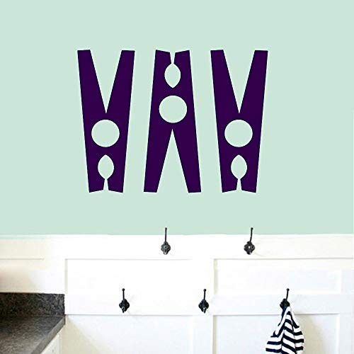 Conjunto de pinzas para la ropa Tatuajes de pared Cuarto de baño Cuarto de lavado Decoración de la pared Pegatinas Diseño de la pared Clipart Decoración del hogar Accesorios color-2 42x54cm