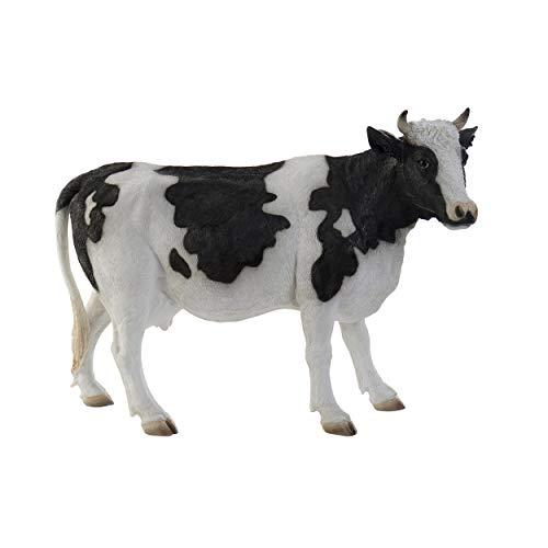 Vaca Decoración Figura de Resina, Figura Decorativa Vaca Resina. Estatua Decoración Hogar Original 55x22,5x39,5 cm