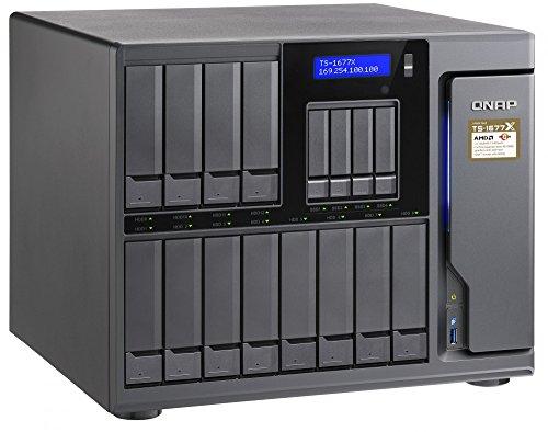 QNAP(キューナップ) TS-1677X デュアル10GBASE-T(RJ45)x2と PCIe ×3 スロットを内蔵、10GbE対応 16ベイ AMD...