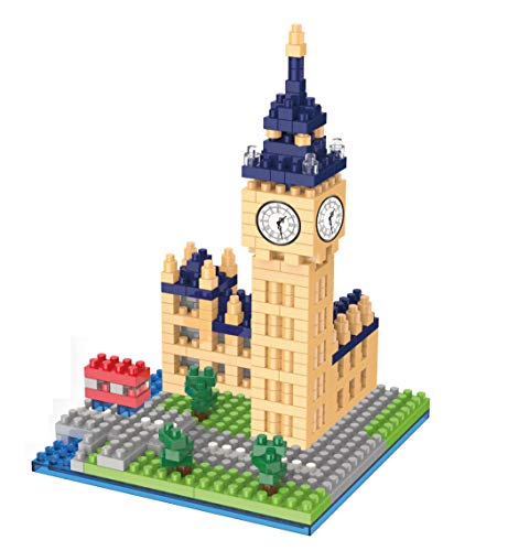 Wise Hawk Big Ben de Londres. Modelo de Arquitectura para armar con nanobloques