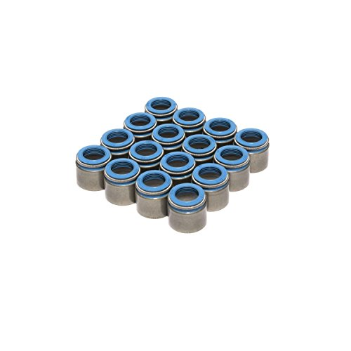 COMP Cams 518-16 Set of 16 Metal Body Viton Valve Seals for .530