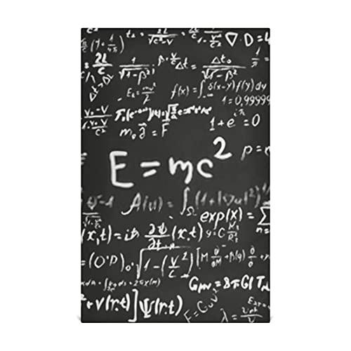 Juego de toallas de cocina con 4 fórmulas científicas inscritas en pizarra Cálculos de física Toalla de cocina grande de 28 '' x 18 '' Toallas de cocina, paños de cocina, toallas decorativas para go