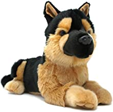 Gretchen The German Shepherd - 12 Inch Stuffed Animal Plush Dog - by Tiger Tale Toys