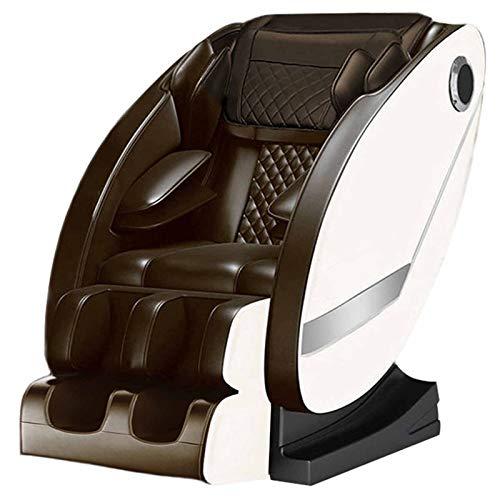 Sillón De Masaje Zero Gravity Sillón Masajeador Libre De La Instalación/Envuelta Bolsa de Aire de Todo El Cuerpo/Masaje de Espalda/LED de Funcionamiento/Audio Bluetooth,Blanco