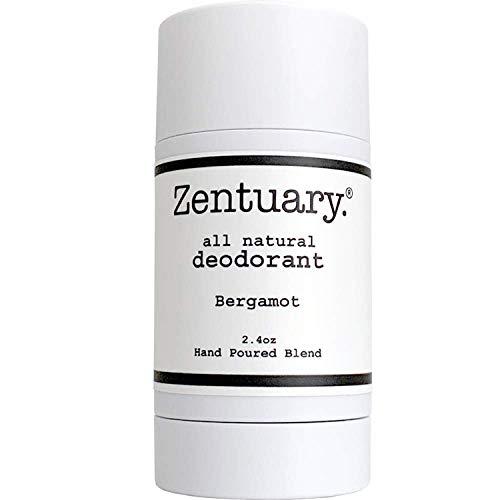 Zentuary Aluminum Free Natural Deodorant. Eliminates Nervous Stress Sweat Odor (Bergamot) for Women, Men & Teens