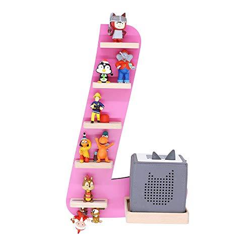 """BOARTI Kinder Regal Buchstabe """"L"""", small in Pink - geeignet für die Toniebox und ca. 18 Tonies - zum Spielen und Sammeln"""