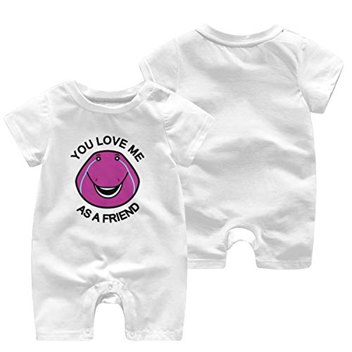You Love Me As A Friend Baby Playsuit Outfits Infant Boys Girls Rompers 0-24 Months Baby Jumpsuit Clothes Kids Playsuits Toddlers Short Sleeve Outfits