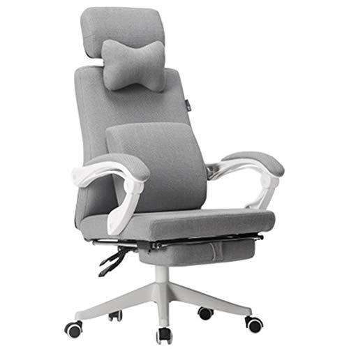 Silla giratoria para computadora de oficina, sillón reclinable para silla giratoria, cuero,Silla para computadora, silla de tela para estudio en el hogar, silla giratoria, silla Nordic boss, silla er