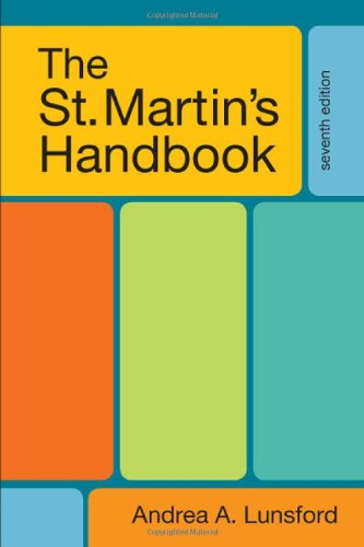 The St. Martin's Handbook, 7th Edition