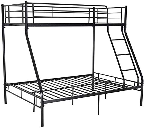 De tres capas cama doble hoja de metal doble armazón de la cama doble, negro blanco, plata,Black