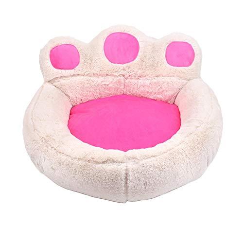 Vommpe Haustierbett, Tierbett, Katzenstreu, Bett aus Plüsch, für Haustiere, Bär, Pfote in Katzenform, Kissen für Haustiere, warm schlafen, 40 – 45 cm, 1 Stück
