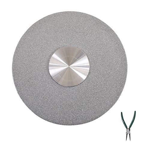 KIKA DIOE Runder Plattenspieler-Sockel aus gehärtetem Glas, Silver Lazy Susan-Drehteller, Drehplatte für Esstisch