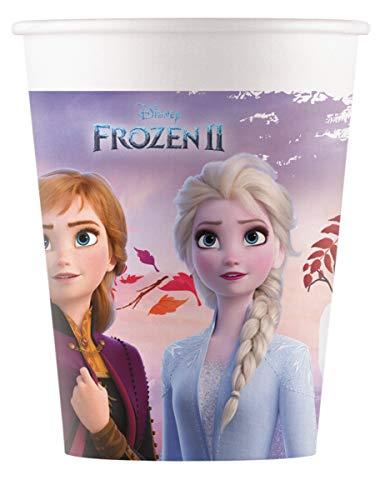 Procos 91147P Vasos de papel compostable Frozen 2, multicolor