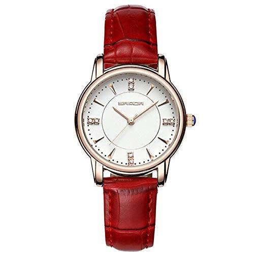 ZSDGY wasserdichte Und Stilvolle Quarz-Uhr, Gürtel-Studenten-Uhr, Einfache Kreative Diamant-weibliche Uhr, Vorzügliche Und Genaue Elektronische Uhr,F